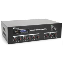 Power Dynamics PBA60 PA ενισχυτής 100V, 60 Watt, 4-16 Ohm με USB/ SD/ FM/ Bluetooth 952.093