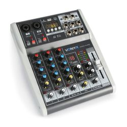 Vonyx VMM-K402 4-Channel Music Mixer with DSP 172.585