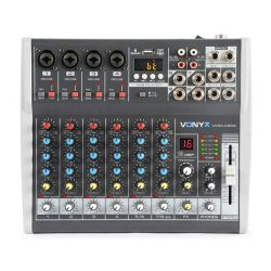Vonyx VMM-K802 8-Channel Music Mixer with DSP
