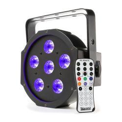 BeamZ BFP130 FlatPAR 6x 6W UV LEDs DMX και Τηλεχειριστήριο 151.216