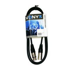 Vonyx 177.726 Καλώδιο XLR 3p αρσενικό σε XLR 3p θηλυκό 12m