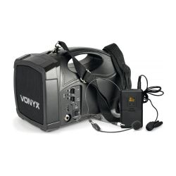 Vonyx ST-012 Φορητό επαναφορτιζόμενο σύστημα 30 Watt RMS με USB/Bluetooth και UHF Μικρόφωνο 178.870
