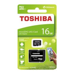 TOSHIBA MICROSDHC M203 16GB CLASS 10 UHS I U1 WITH ADAPTER / THN-M203K0160EA