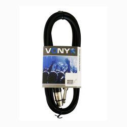 Vonyx 177.738 Καλώδιο XLR 3p Θηλυκό σε Jack 6.3mm μονό αρσενικό 3m