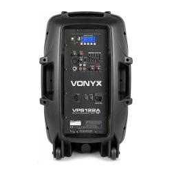 Vonyx VPS122A Set 2 ηχείων με Αυτοενισχυόμενο και Παθητικό 12''  USB,SD,MP3,Bluetooth, βάσεις και μικρόφωνο (σετ) 178.130