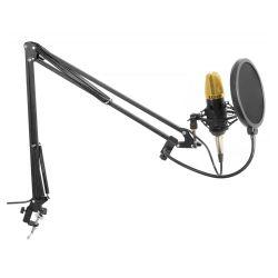 Vonyx 173.504 Studio Set με Μικρόφωνο Phantom, Βάση στήριξης και Anti-Pop φίλτρο (Gold)