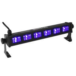 BeamZ BUV63 Μπάρα φωτισμού 6x 3 Watt LED Blacklight UV Bar 153.271