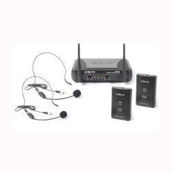 Vonyx STWM712H Διπλό Ασύρματο VHF Μικρόφωνο Κεφαλής