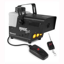 BeamZ RAGE 600LED Μηχανή Καπνού 600 Watt με 2 Χειριστήρια και LED για effect Φλόγας