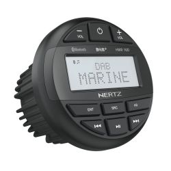 Hertz HMR 10D Αδιάβροχη πηγή ήχου marine με ευανάγνωστη οθόνη με Ραδιόφωνο, DAB+, Bluetooth, USB, 200W