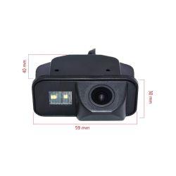 OEM RS6813 Ειδική κάμερα οπισθοπορείας Toyota Corolla από 2007 εώς 2011 με γωνία λήψης 170° , τριπλού φακού