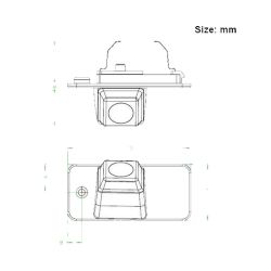 Bizzar BC-AU65 Ειδική κάμερα οπισθοπορείας για Audi A3 (8P) 2005-2012