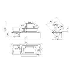 Bizzar BC-BM02 Κάμερα Οπισθοπορείας Χειρολαβής για BMW