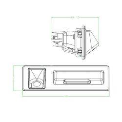 Bizzar C-BC-BM07 Κάμερα Οπισθοπορείας Χειρολαβής για BMW