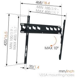 Vogel's MA3010 Βάση Τοίχου Σταθερή με δυνατότητα κλίσης για Τηλεόραση από 32'' εώς 55''