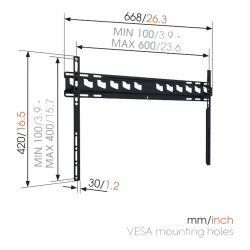 Vogel's MA4000 Βάση Τοίχου Σταθερή για Τηλεόραση από 40'' εώς 80''