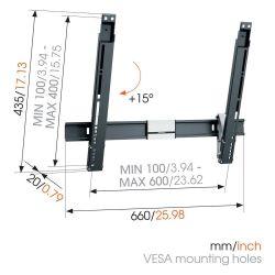 Vogel's THIN 515 Βάση Τοίχου Σταθερή με δυνατότητα κλίσης για Τηλεόραση από 40'' εώς 65''