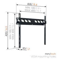Vogel's MA3000 Βάση Τοίχου Σταθερή για Τηλεόραση από 32'' εώς 55''