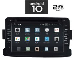Digital iQ IQ-AN X434 GPS Multimedia OEM 7'' με Android 10 Q για Dacia Sandero ,Logan ,Duster & Renault Captur από 2012 εώς 2018, CPU : PX30 CORTEX  A35  1.5Ghz – Quad core – RAM DDR3 : 2GB – NAND FLASH : 16GB