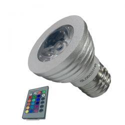 Λάμπα LED Σποτ E27 5W 230V 325lm 35° με Ασύρματο Χειριστήριο RGB GloboStar 47722