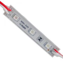 20 Τεμάχια x LED Module 3 SMD 5050 0.8W 12V 50lm IP65 Αδιάβροχο Κόκκινο GloboStar 65002
