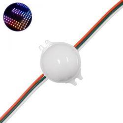 20 Τεμάχια x LED Magic Digital Στρογγυλό Module Φ3 CM RGBW 0.72W 12V GloboStar 30544