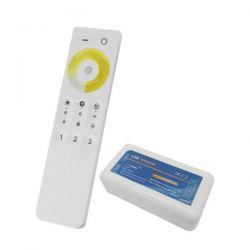 Ασύρματο LED Dimmer με Χειριστήριο Αφής 2.4G RF CCT 2 Χρωμάτων για Ένα Group 12v (144w) - 24v (288w) DC GloboStar 04040