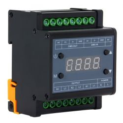 LED Dimmer Pack Ράγας 3 Καναλιών DMX512 220v (660W) Trailing Edge GloboStar 50043