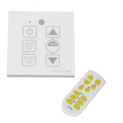 Ασύρματο LED Dimmer Τοίχου Αφής Λευκό 220v (200w) Trailing Edge GloboStar 50044