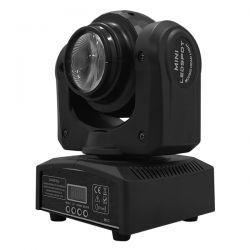 Επαγγελματική Κινούμενη Ρομποτική Διπλή Κεφαλή Beam CREE LED 10W & SPOT 4x10W 230V DMX512 RGBW GloboStar 51136
