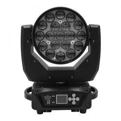 Κινούμενη Ρομποτική Κεφαλή Helios HAWKEYE 1 BEE EYE PRO 4in1 BEAM - WASH - ZΟΟΜ 4°-60° 19*12 Watt OSRAM LED RGBW 300W 230V DMX512 GloboStar 51152
