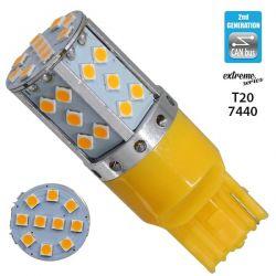 Λαμπτήρας LED Extreme Series Can-Bus 2ης Γενιάς με βάση T20 7440 17W 12v Πορτοκαλί για Φλας GloboStar 81154