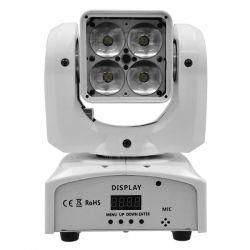 Κινούμενη Ρομποτική 4πλη Κεφαλή DISCO 4 in1 BEAM - WASH - SPOT - ZOOM 6°- 60° 4*20 Watt White Body OSRAM LED RGBW 230V DMX512 GloboStar 51156