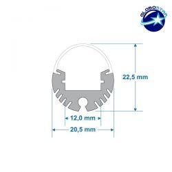 Εξωτερικό Στρογγυλό Κρεμαστό Προφίλ Αλουμινίου 1Μ Milky Cover για Ταινία LED PRESS ON GloboStar 70817-1M