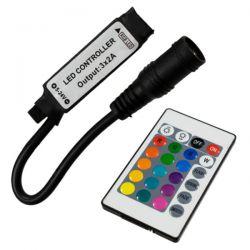 GloboStar® 73402 Ασύρματος LED RGB Controller με Χειριστήριο IR 5v (30w) 12v (72w) 24v (144w)