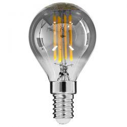 GloboStar® 99063 Λάμπα E14 G45 Γλομπάκι LED FILAMENT 4W 400 lm 320° AC 85-265V Edison Retro με Φιμέ Γυαλί Θερμό Λευκό 2700 K Dimmable