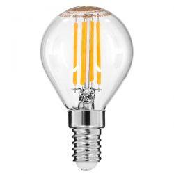 GloboStar® 99003 Λάμπα E14 G45 Γλομπάκι LED FILAMENT 4W 440 lm 320° AC 85-265V Edison Retro με Διάφανο Γυαλί Θερμό Λευκό 2700 K Dimmable