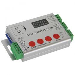 GloboStar® 73444 Ασύρματος LED Digital RGB Controller DMX512 & Κάρτα SD με Χειριστήριο RF για LED Digital RGB Προϊόντα 5v - 12v - 24v  HC03 2048 IC