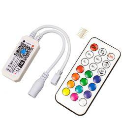 GloboStar® 73430 Ασύρματος Smart Home Wi-Fi LED RGBW + WW Controller με Χειριστήριο RF DC 9-28V Max 100W