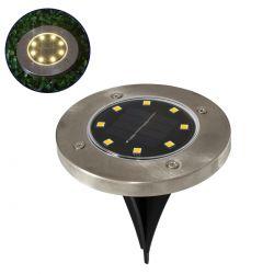GloboStar® 71503 Αυτόνομο Ηλιακό Φωτιστικό Κήπου LED SMD 3W 170 lm με Ενσωματωμένη Μπαταρία 600mAh - Φωτοβολταϊκό Πάνελ με Αισθητήρα Ημέρας-Νύχτας IP65 Θερμό Λευκό 3000k