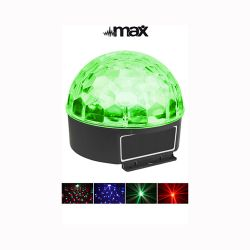 Max Magic Jelly DJ Ball Φωτορυθμικό Jelly Ball με 6 LEDs 1 Watt