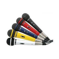 Skytek Σετ 5 δυναμικών μικροφώνων με διακόπτες και καλώδια σε διαφορετικά χρώματα. Ιδανικά για λύσεις karaoke