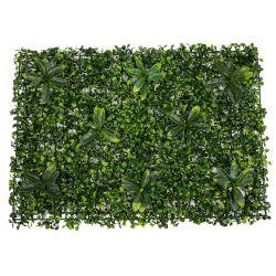 GloboStar® 78410 Συνθετικό Πάνελ Φυλλωσιάς - Κάθετος Κήπος Πυξάρι - Ιαπωνική Δάφνη Μ60 x Υ40 x Π7cm