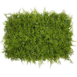 GloboStar® 78414 Συνθετικό Πάνελ Φυλλωσιάς - Κάθετος Κήπος Λέιλαντ - Νάνος Κισσός Πράσινο - Λαδί Μ60 x Υ40 x Π9cm