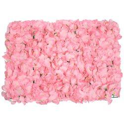 GloboStar® 78313 Συνθετικό Πάνελ Φυλλωσιάς - Κάθετος Κήπος Άγρια Ορτανσία Ροζ Μ60 x Υ40 x Π5cm