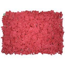 GloboStar® 78330 Συνθετικό Πάνελ Φυλλωσιάς - Κάθετος Κήπος Ορτανσία Σκούρο Ροζ Μ60 x Υ40 x Π5cm