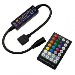 GloboStar® 73429 Ασύρματος LED RGB Controller με Χειριστήριο RF 2.4Ghz DC 5-24V Max 144W