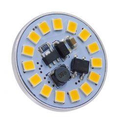 GloboStar® 76109 Λάμπα G4 LED SMD 2835 3W 300lm 120° DC 12-24V Back Pin Θερμό Λευκό 3000K Dimmable