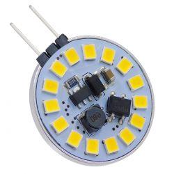 GloboStar® 76105 Λάμπα G4 LED SMD 2835 3W 330lm 120° DC 12-24V Side Pin Φυσικό Λευκό 4500K Dimmable