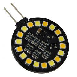 GloboStar® 76110 Λάμπα G4 LED SMD 2835 5W 600lm 120° DC 12V Side Pin CCT Θερμό 2700 K έως Ψυχρό 6000K Change by On/Off